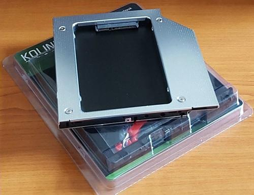 MobileRack notebookba SATA HDD-hez 9,5mm Optibay Kolink HDKO001