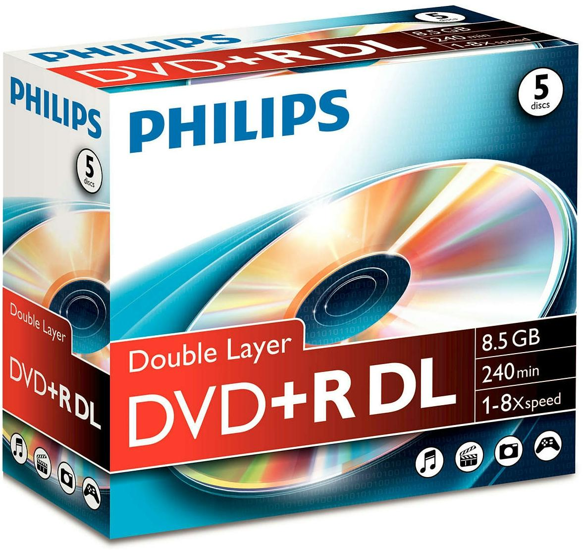 DVD lemez Philips 8,5GB +R DualLayer