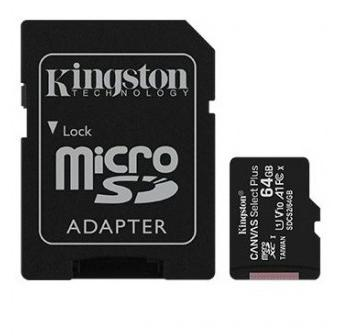 SD Micro  64GB XC Kingston 1Adapter CL10 SDCS2/64GB