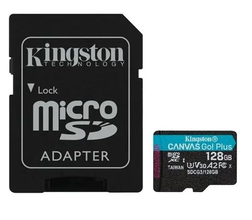 SD Micro 128GB XC Kingston 1Adapter UHS-I U3 SDCG3/128GB