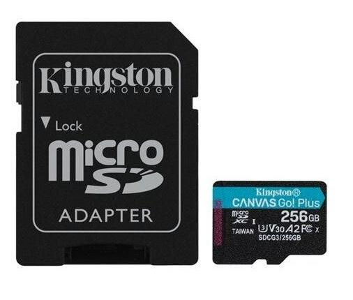 SD Micro 256GB XC Kingston 1Adapter UHS-I U3 SDCG3/256GB